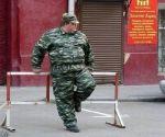 fat military man